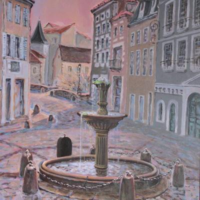 La fontaine | Huile | 60x21