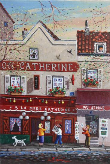 À la mere Catherine | Acrylique | 24x35