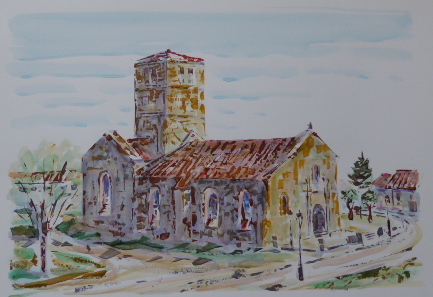 Eglise St Barthelemy (Jour) | Acrylique | 56x32