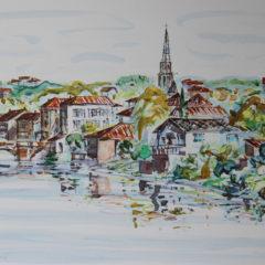 Pont Vieux, Confolens | Aquarelle