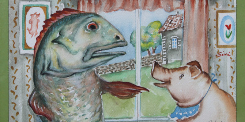 Aiti naytät kalalta | Aquarelle | 25.5x17.5