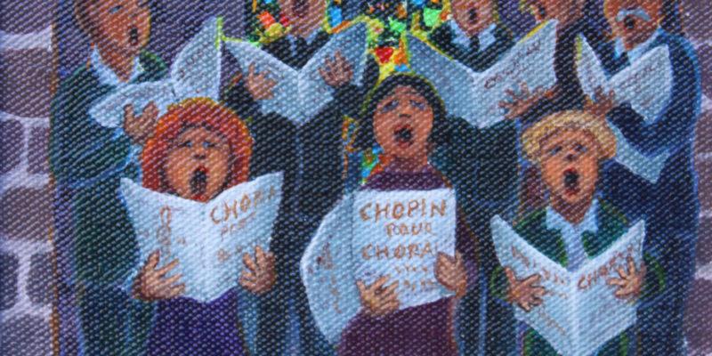 Chopin à huit voix | Acrylique | 14x18