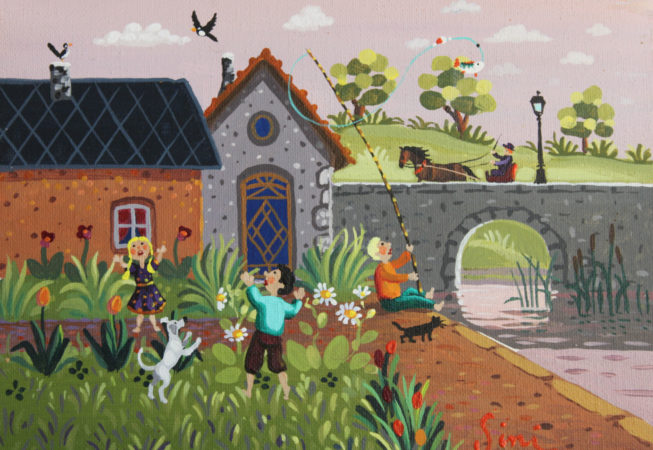 Jeux d'enfants   Acrylique   18x14