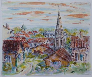 Eglise St Maxime | Acrylique | 24x20