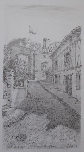 Rue vieux chateau | Mine de plomb | 21x38