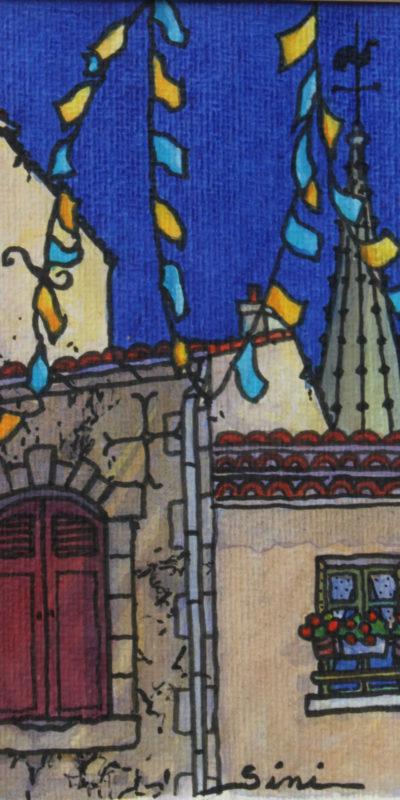 Clocher d'Église | Aquarelle | 15x225