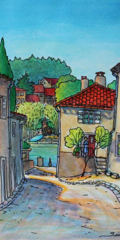 Rue de l'Adoue | Acrylique | 47x32